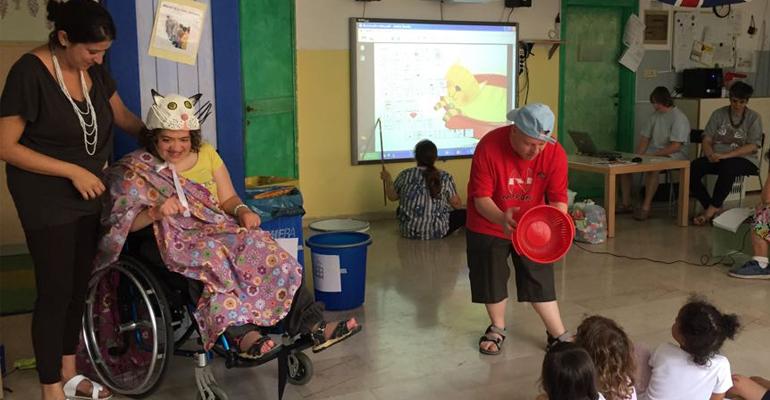 Lezione CAA negli asili di bologna